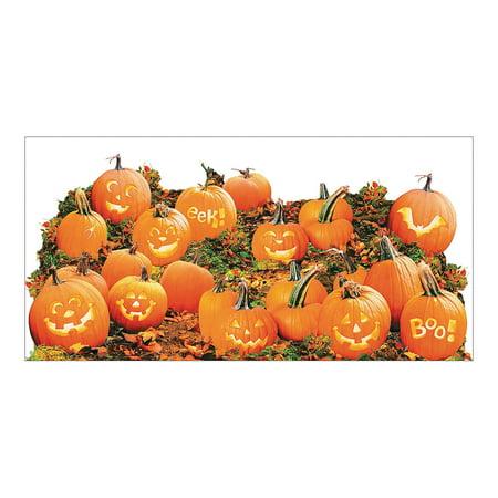 Fun Express - Pumpkin Patch Wall Decor Roll for Halloween - Party Decor - Wall Decor - Scene Setters - Halloween - 2 Pieces](Fun 2 Draw Halloween Pumpkin)