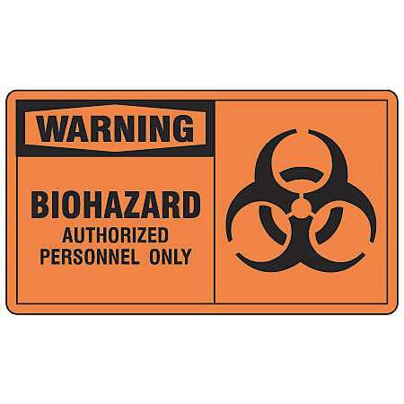 Safety Label,5 In. W,3-1/2 In. H,PK5 ACCUFORM LBHZ302VSP