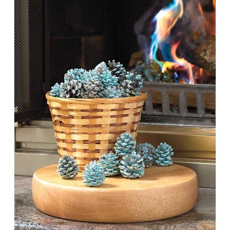 Rainbow Flame-Coloring Pine Cones Blue & Green Flames Fireplace Outdoor Firepit ()