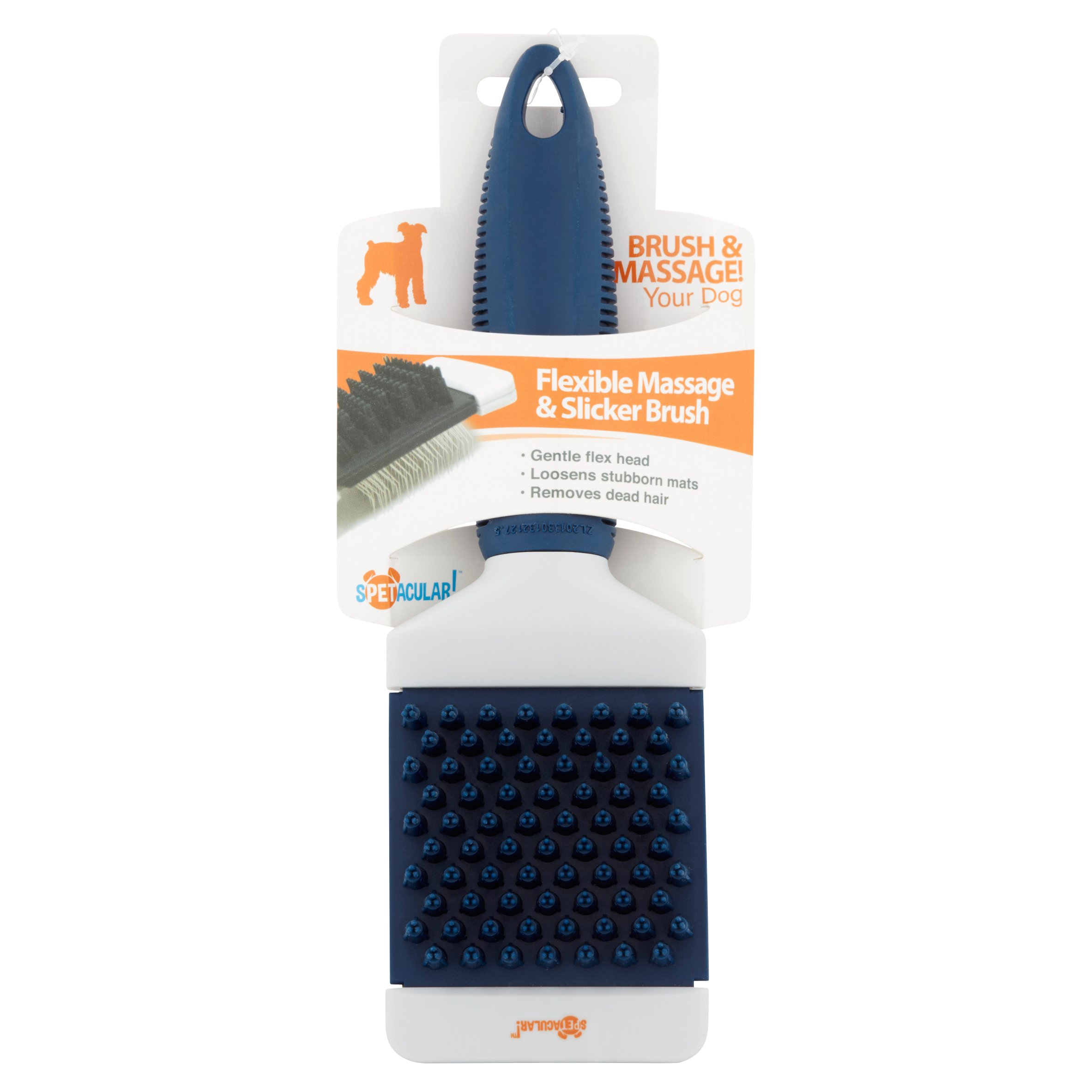 Spetacular! Flexible Massage & Slicker Brush