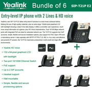 Yealink SIP-T21P E2 6-PACK Entry-level IP phone 2 Lines HD voice PoE LCD