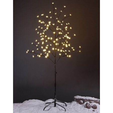 Lightshare 5 ft. LED Lighted Tree with Warm White LED Lights, Cherry Blossom