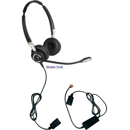 Jabra Biz 2475 Ii Duo Ultra Noise Canceling With Smart Cord   For Nortel  Polycom  Cisco  Mitel  Avaya  Shoretel And Other Business Phones