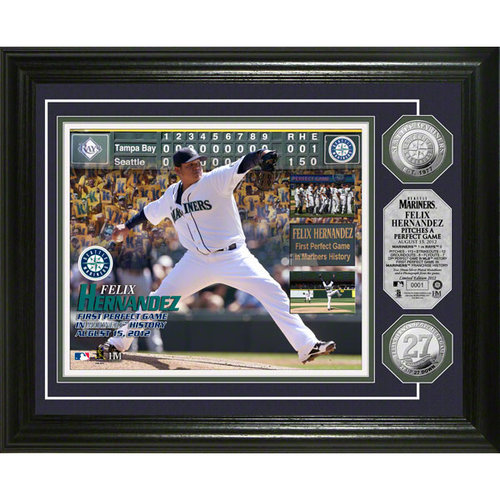 MLB - Felix Hernandez Seattle Mariners Perfect Game Silver Coin Photo Mint