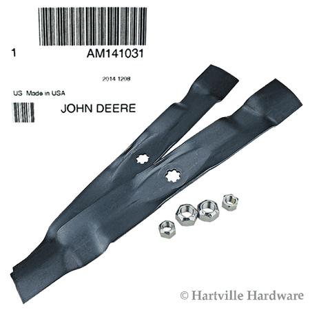 John Deere Original Equipment Mower Blade Kit #AM141031