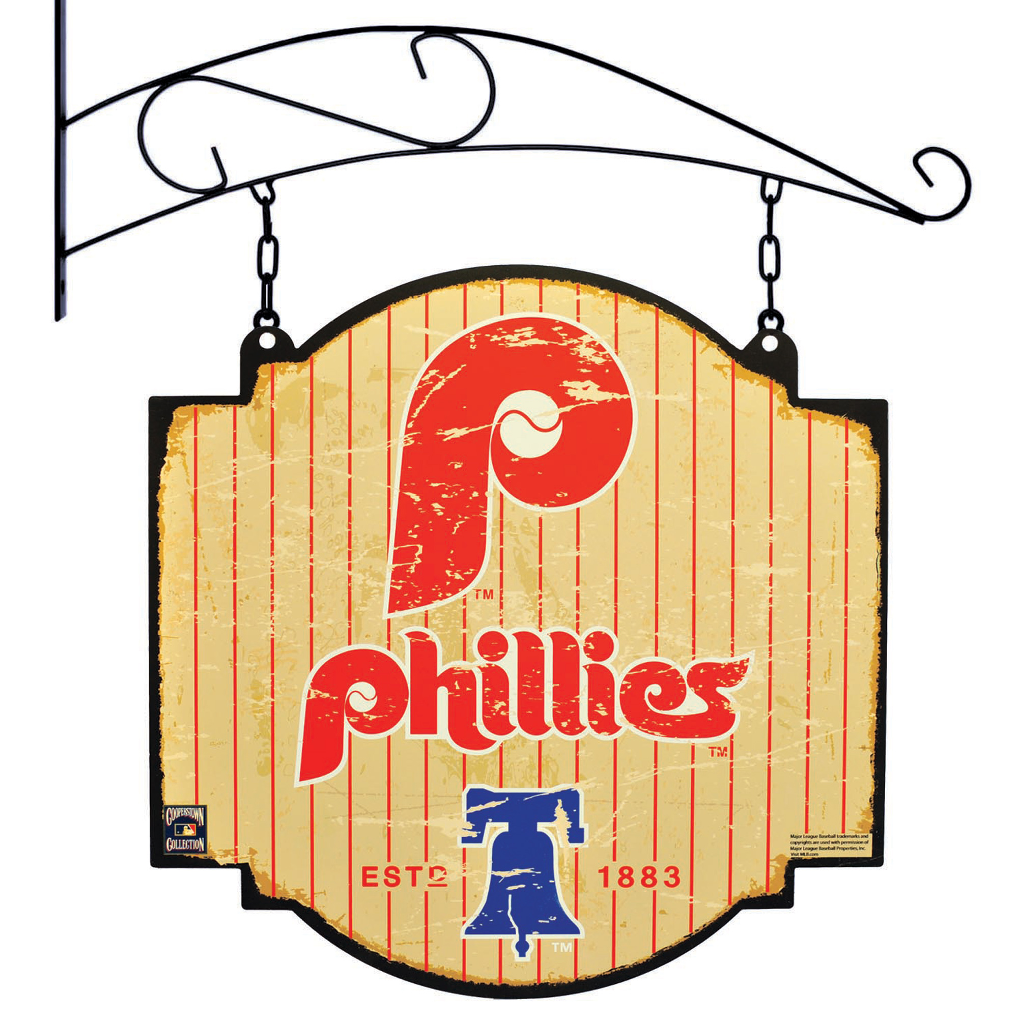 "Philadelphia Phillies 16"" x 16"" Tavern Sign - Cream - No Size"