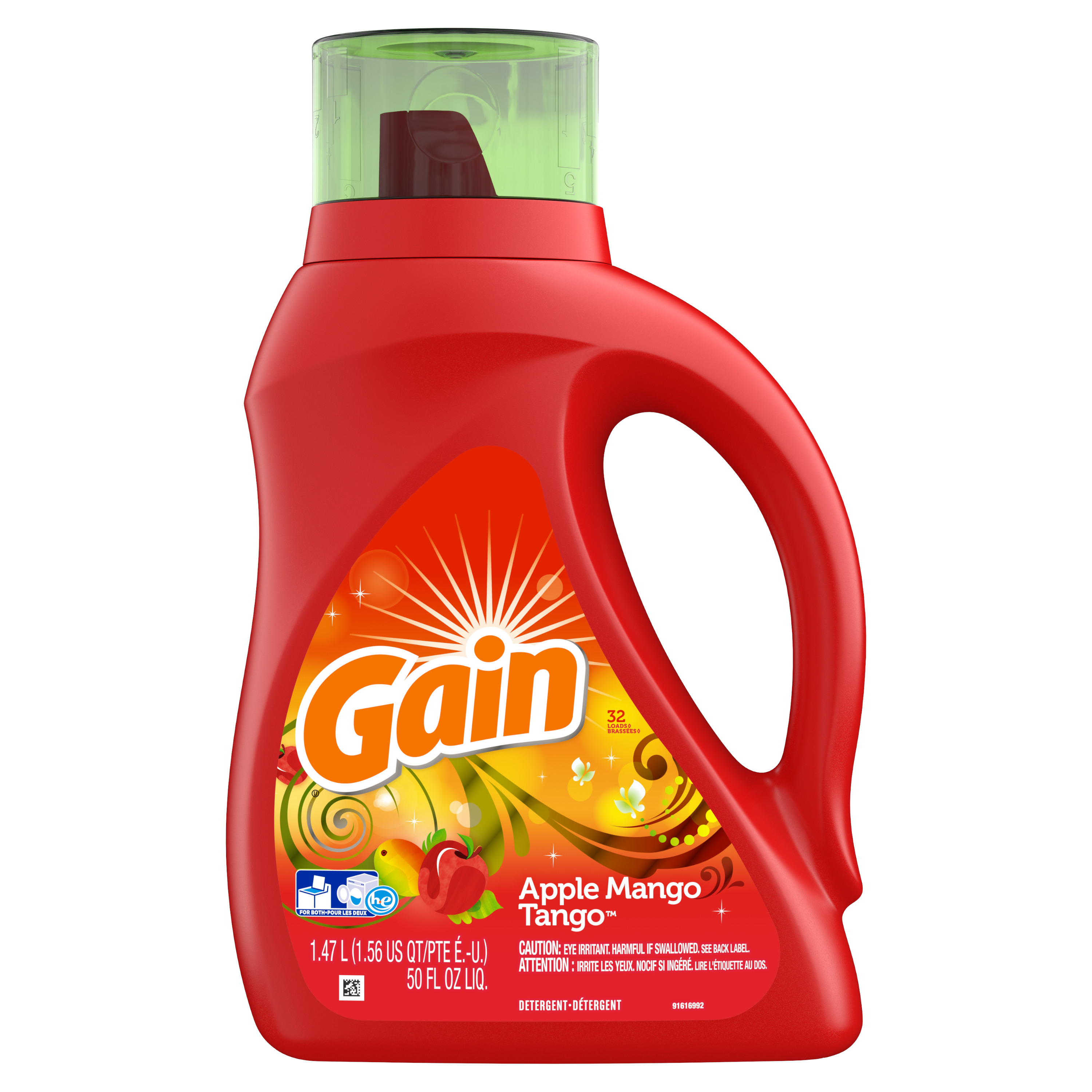 Gain Liquid Laundry Detergent, Apple Mango Tango, 32 Loads, 50 fl oz