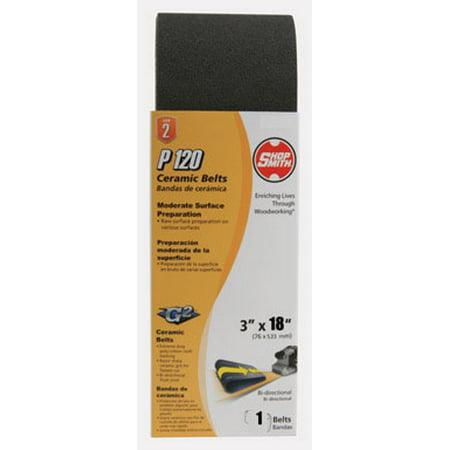 Shopsmith 18 in L x 3 in W Ceramic Sanding Belt 120 Grit Fine 1 pc Cas