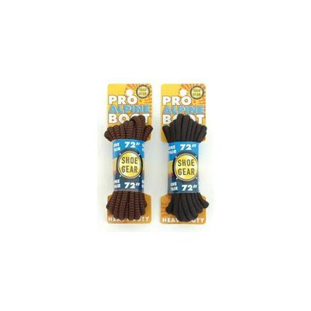 "Image of Shoe Gear Alpine Boot Laces 72"" Brn/blk 310-12 - Shoe Gear"