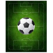 Secretly Designed Soccer Field Print