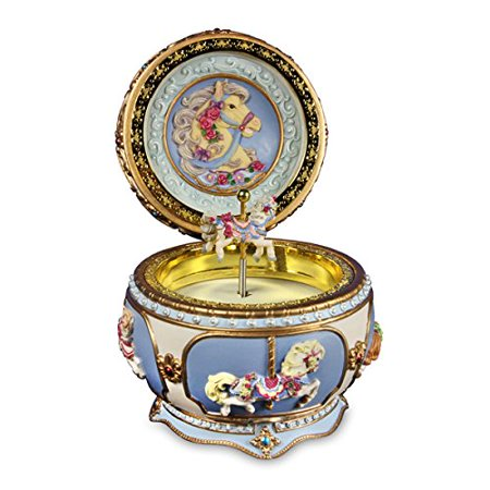 Carousel Horse Hinged Trinket Box by San Francisco Music Box Company Multi-Colored