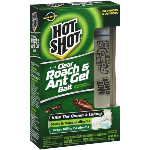 Hot Shot: Ultra Clear Roach & Ant Gel Bait Insecticide, 2.5 Oz