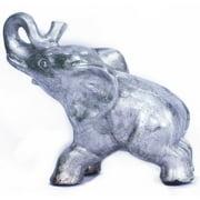 "8"" Decorative Ceramic Elephant - Silver"