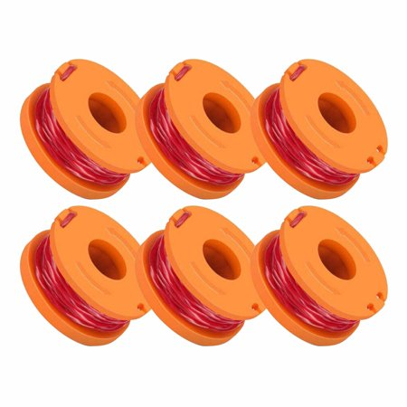 For Grass Trimmer Edger 10ft 6-pack For WORX WA0010 Replacement Spool -