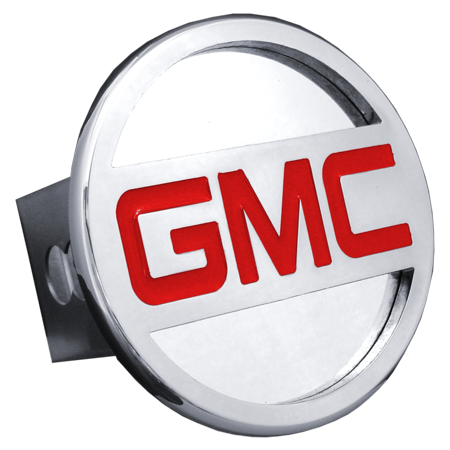 Au-TOMOTIVE GOLD GMC Name Chrome Trailer Hitch Plug