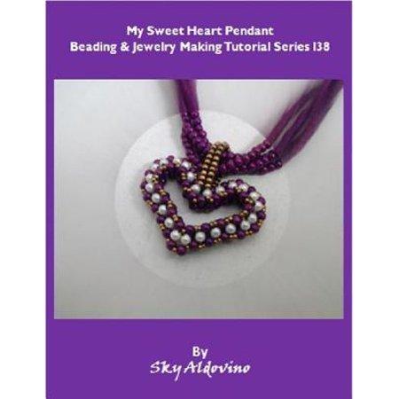 My Sweet Heart Pendant Beading and Jewelry Tutorial Series I38 - eBook Beading Ruffle Sweetheart Floor