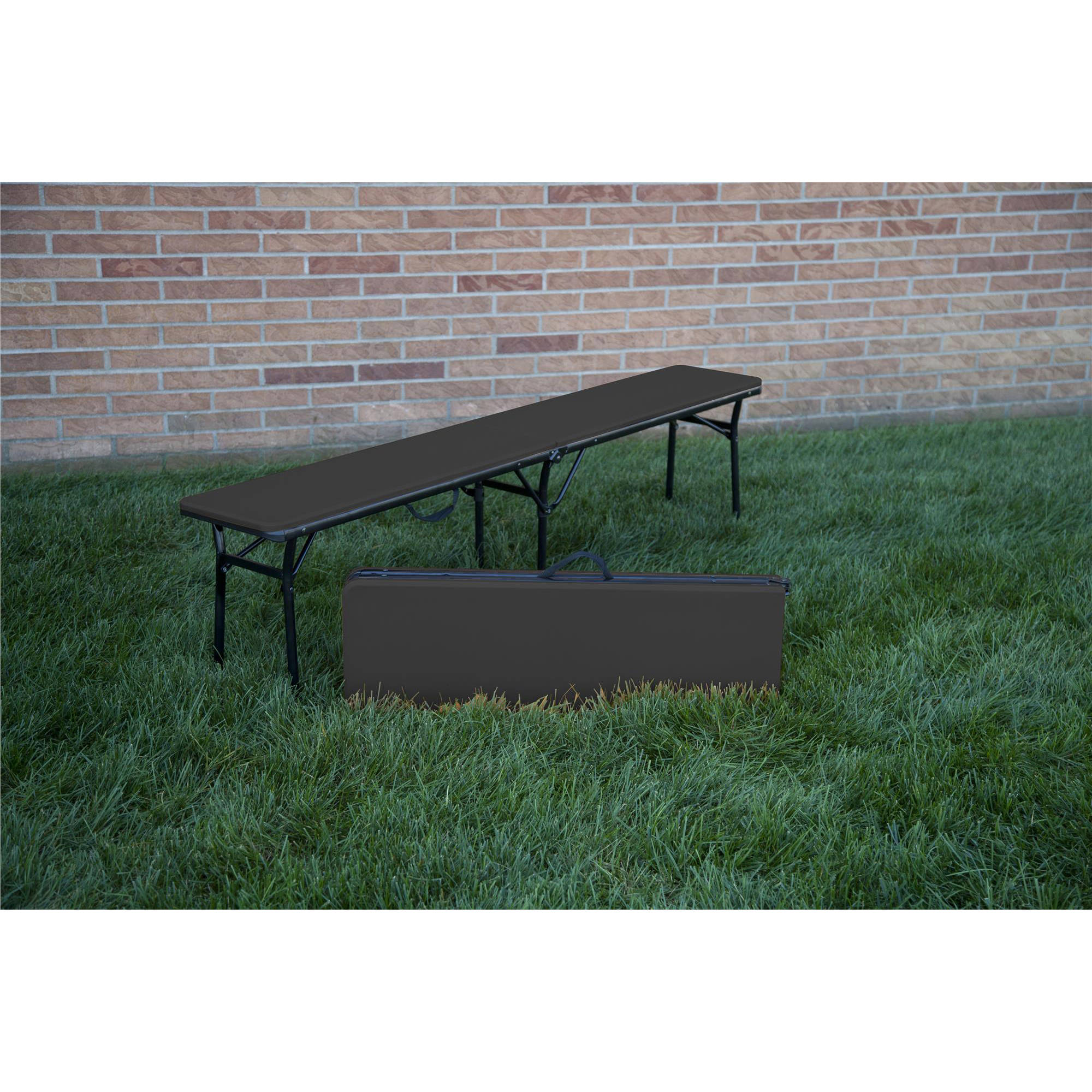 Cosco 6' Indoor Outdoor Center Fold Tailgate Bench with C...