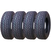 Set of 4 New Premium FREE COUNTRY Trailer Tires ST 205/75D15 - 11021