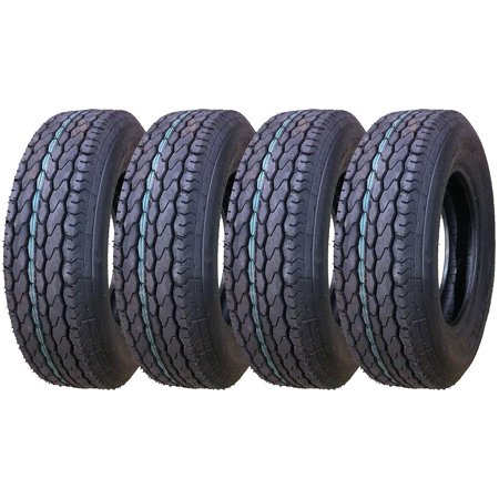 Set of 4 New Premium FREE COUNTRY Trailer Tires ST 205/75D15 - -