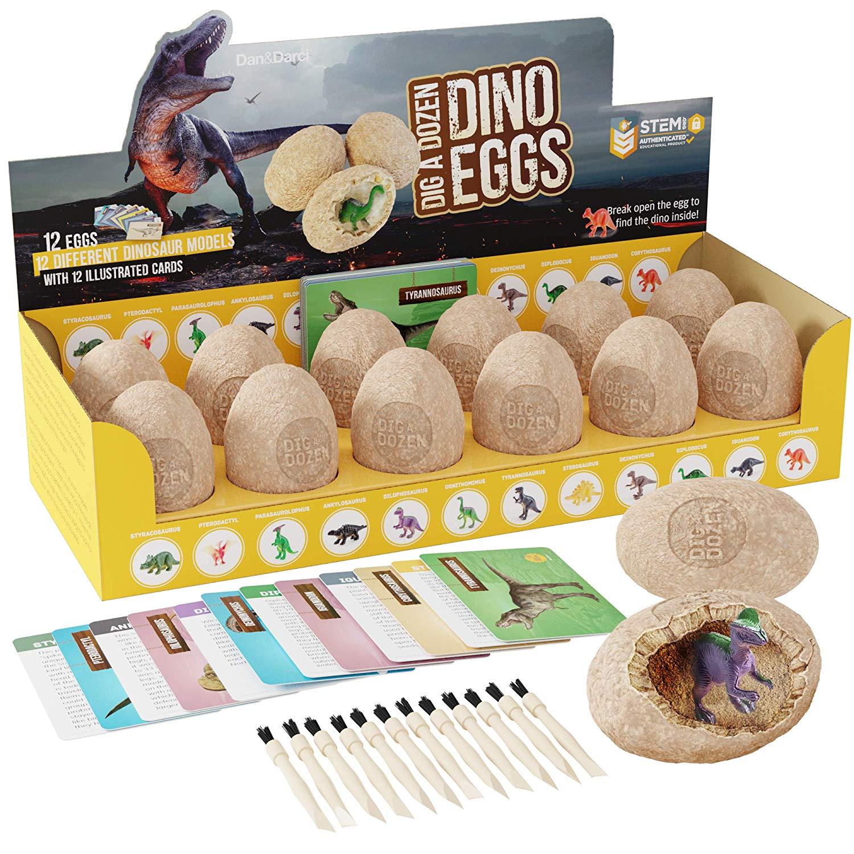 Learning Education Dino Egg Dig Kit Break Open Unique Dinosaur Eggs USA HOT