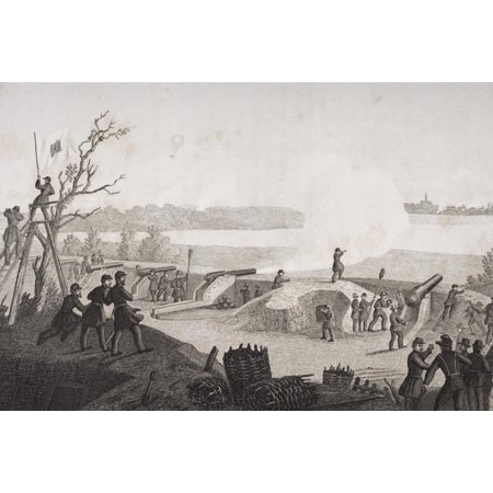 Siege Of Yorktown Virginia 1862 Drawn By FB Schell Canvas Art - Ken Welsh  Design Pics (17 x 11) - Halloween Pics For Fb
