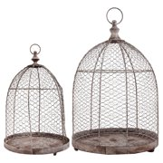 Esschert Design Aged Metal Wire Cloche - Set of 2