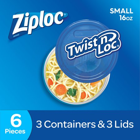 (2 Pack) Ziploc Twist N Loc, Small, 3 count