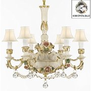 Authentic Capodimonte Porcelain Chandelier Made In Italy