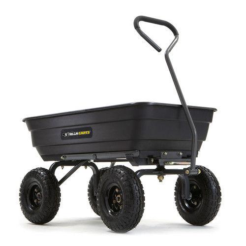 Gorilla Carts GOR4PS 600 lb. Capacity Poly Garden Dump Cart by Tricam Industries