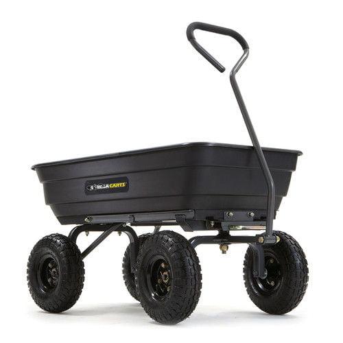 Gorilla Carts GOR4PS 600 lb. Capacity Poly Garden Dump Cart