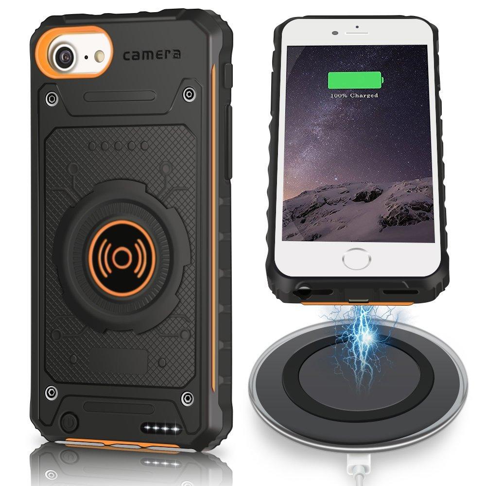 iPhone 6s Plus Wireless Charger Case, JIUNAI Shockproof B...