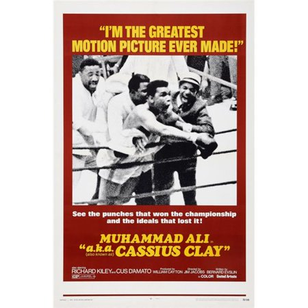 Alix Collection - Everett Collection EVCMCDMUALEC007H Muhammad Ali A.K.A. Cassius Clay Aka A.K.A. Cassius Clay US Poster Art Center - Muhammad Ali 1970 Movie Poster Masterprint, 11 x 17