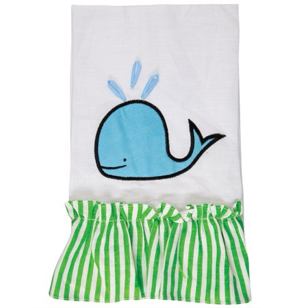 Whale Spouting Ruffled Guest Towel