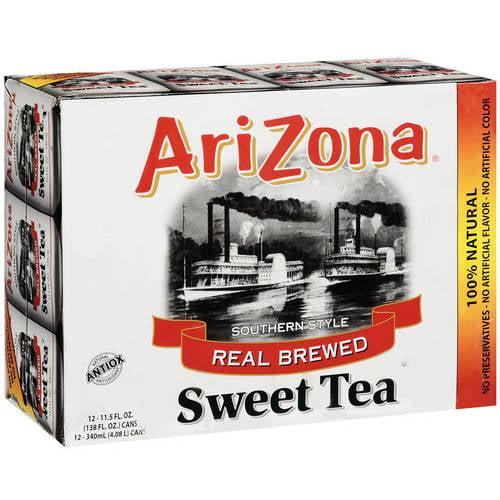 Arizona Southern Style Real Brewed Sweet Tea, 11.5 oz, 12ct