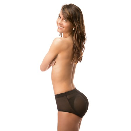 8 of hearts women's shaper panty with sillicone butt pads booty padded panty~l / nude ()