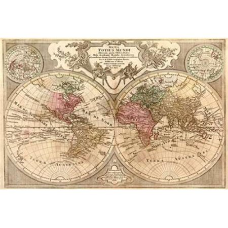 World Map Prepared for Then French King Poster Print by Guillaume De LIsle, 24 x 36 - Large