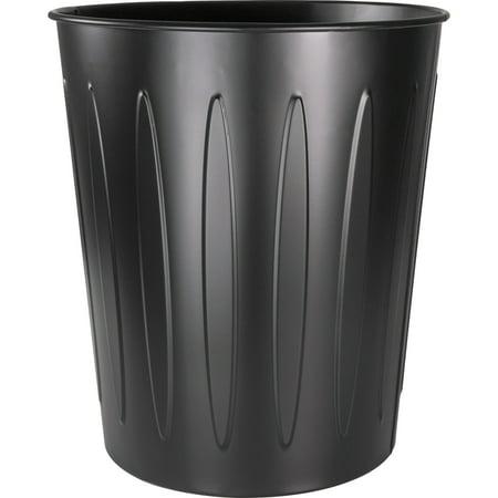 Genuine Joe, GJO58897, Steel 6 Gallon Fire-safe Trash Can, 1, Black