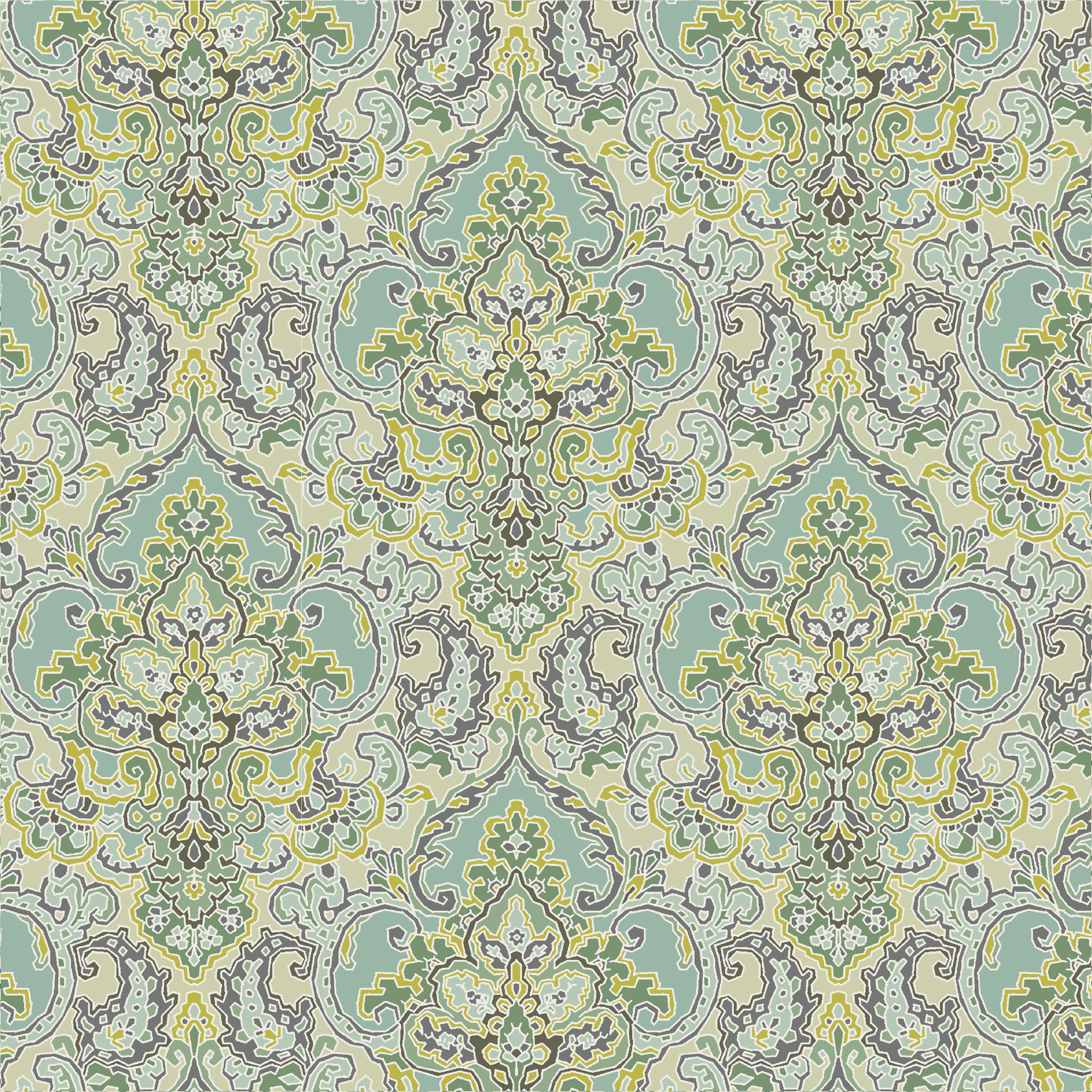 Waverly Inspirations CARPET SPA 100% Cotton Duck Fabric 45'' Wide, 180 Gsm, Quilt Crafts Cut By The Yard