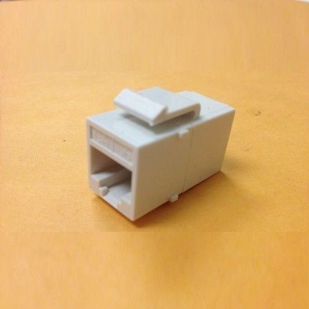 Duplex In Line Adapter - 50 pcs LOT Inline RJ45 Keystone Wall Coupler Jack Adapter White CAT6/CAT6e