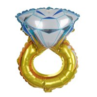 "BalsaCircle 12"" tall Diamond Engagement Shaped Wedding Ring Foil Balloon - Decorations Supplies Bachelorette Party SALE"