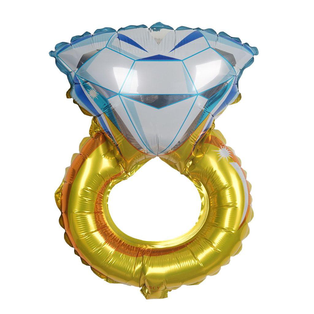 "BalsaCircle 12"" tall Diamond Engagement Shaped Wedding Ring Foil Balloon - Decorations Supplies Bachelorette Party SALE"