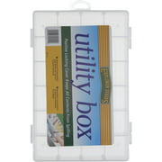 South Bend Sporting Goods Fishing Utility Box, Explorer Series, Small, Clear