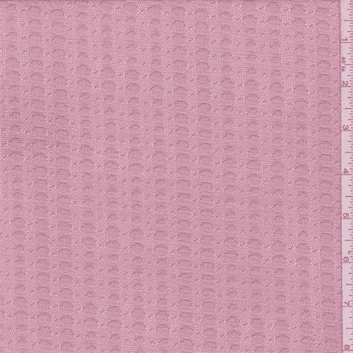 Blush Pink Dot Stripe Stretch Lace, Fabric By the Yard