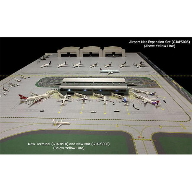 Gemini Jets 1-400 GJAPS006 Airport Mat Set 2 Piece for New Gemini Terminal