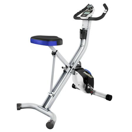 Fitness Reality U2500 Folding Upright Exercise Bike with Heart Pulse