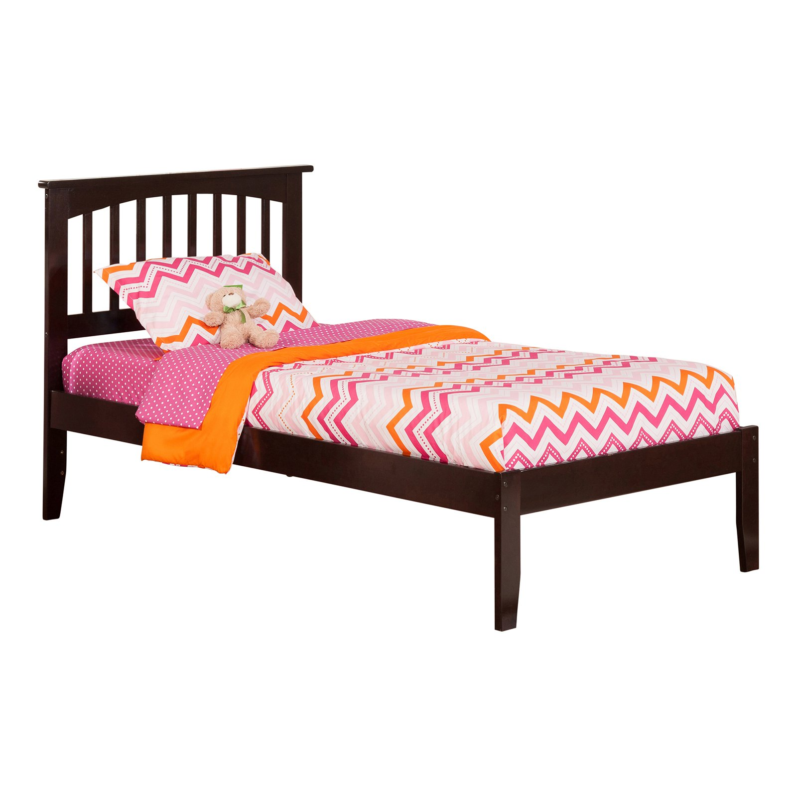 Mission Platform Bed with Open Foot Board in, in Multiple Colors and Sizes