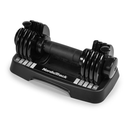 NordicTrack 12.5 Lb. Adjustable Dumbbell, Single with Storage