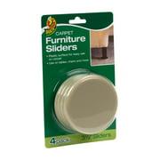 Duck Plastic Carpet Furniture Sliders 3 5 In Tan 4 Count