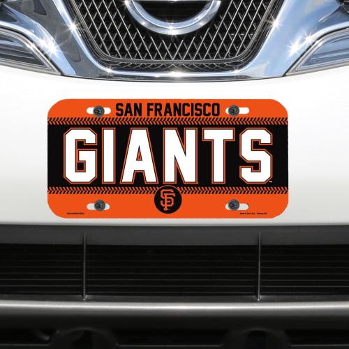 San Francisco Giants WinCraft Logo Plastic License Plate - No Size