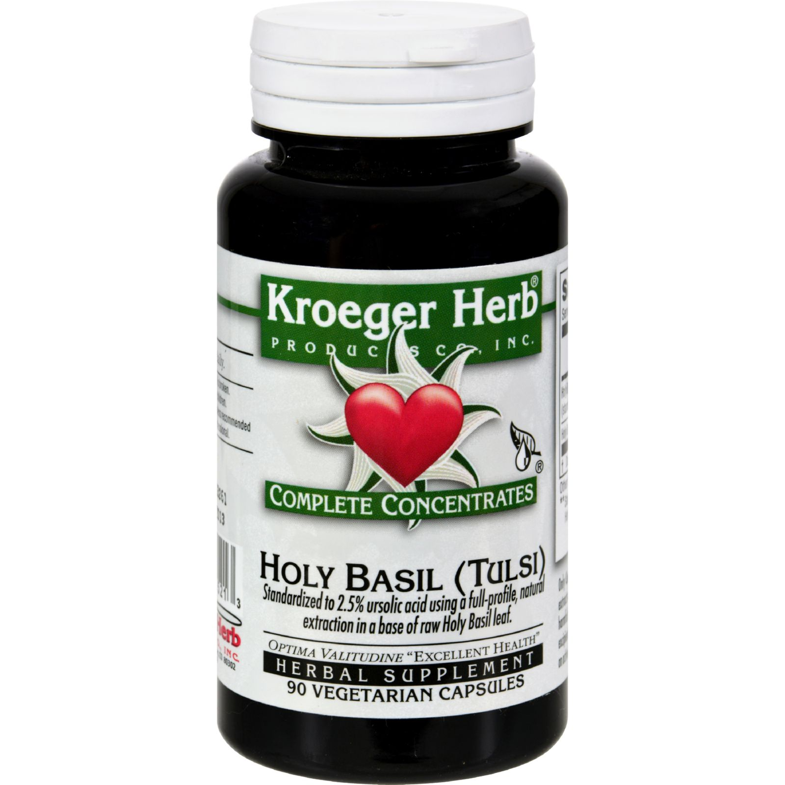 Kroeger Herb Holy Basil - Complete Concentrate - 90 Vegetarian Capsules